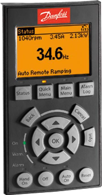 Danfoss 130b1107 Vlt 174 Control Panel Lcp 102 Graphical
