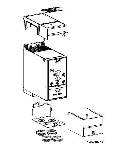 Danfoss Vlt Micro Drive Fc51 Ip21 Kit 132b0108 9 10