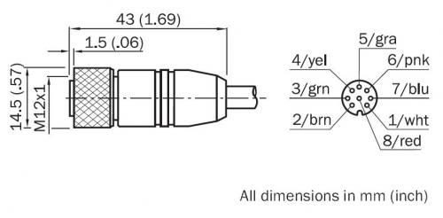 Sick DOL-1208-G10MAC1 (6032868) encoder cable, M12, 8 pin, 10m ... on vga connector diagram, cnc machine diagram, encoder wiring colors, optical encoder circuit diagram, keypad encoder diagram, camera encoder diagram, makerbot diagram, absolute rotary encoder wire diagram, encoder wiring drawing, vga to s-video diagram, s-video pinout diagram, encoder cable, silverado transfer case diagram, encoder wiring examples, rotary encoder circuit diagram, rotary encoder pinout diagram,