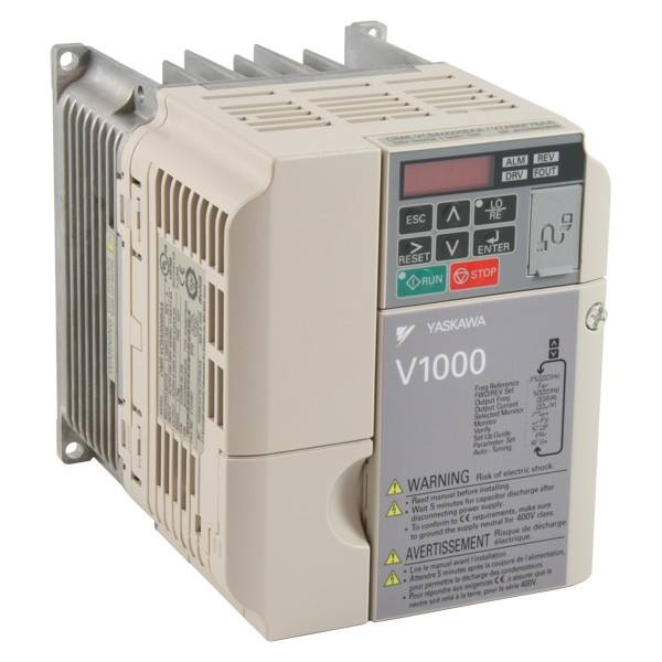 YASKAWA V1000 CIMR-VC4A0004BAA inverter 1 5kW, Three-phase 400VAC, IP20  without top cover