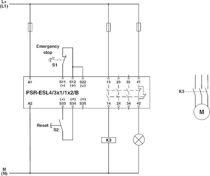 Phoenix contact 2981059 psr scp 24ucesl43x11x2b safety relay phoenix contact 2981059 psr scp 24ucesl43x11x2b circuit diagram single channel door monitoring ccuart Images