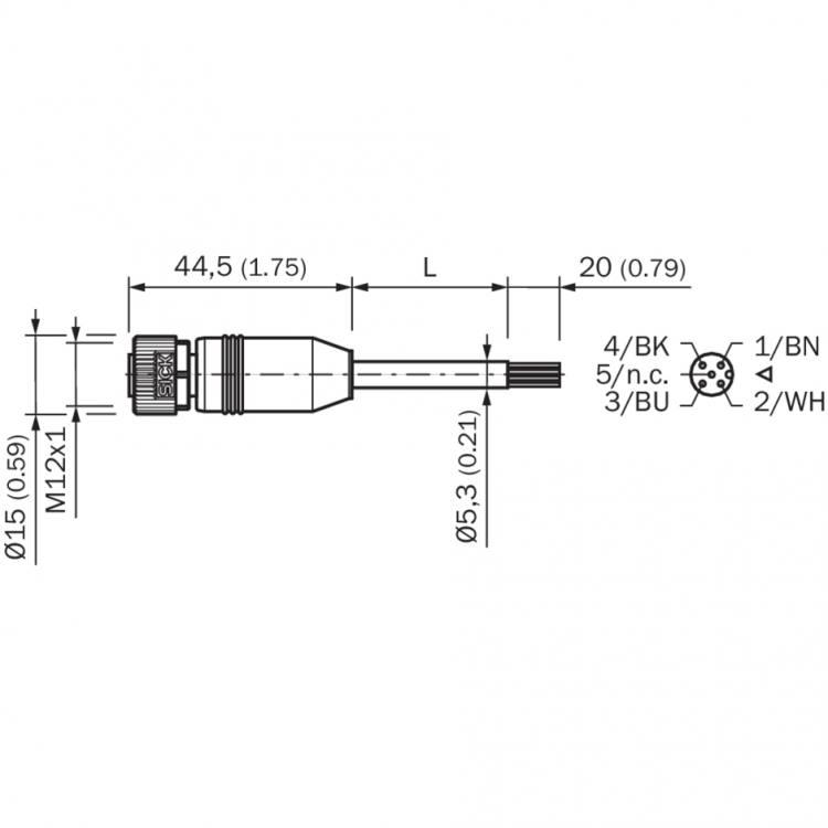 Sick YF2A14-050VB3XLEAX (2096235) Sensor actuator cable, connector, on